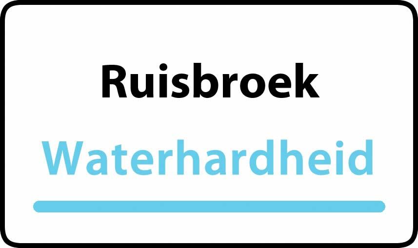 waterhardheid in Ruisbroek is hard water 36 °F Franse graden