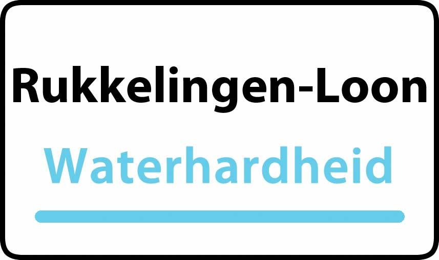 waterhardheid in Rukkelingen-Loon is hard water 37 °F Franse graden