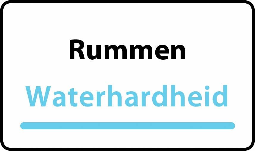 waterhardheid in Rummen is hard water 35 °F Franse graden