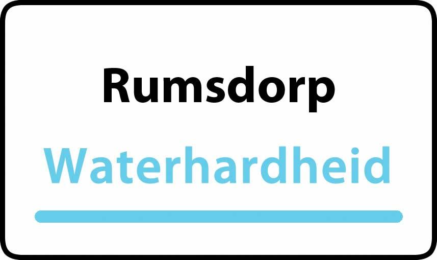 waterhardheid in Rumsdorp is middel hard water 18 °F Franse graden