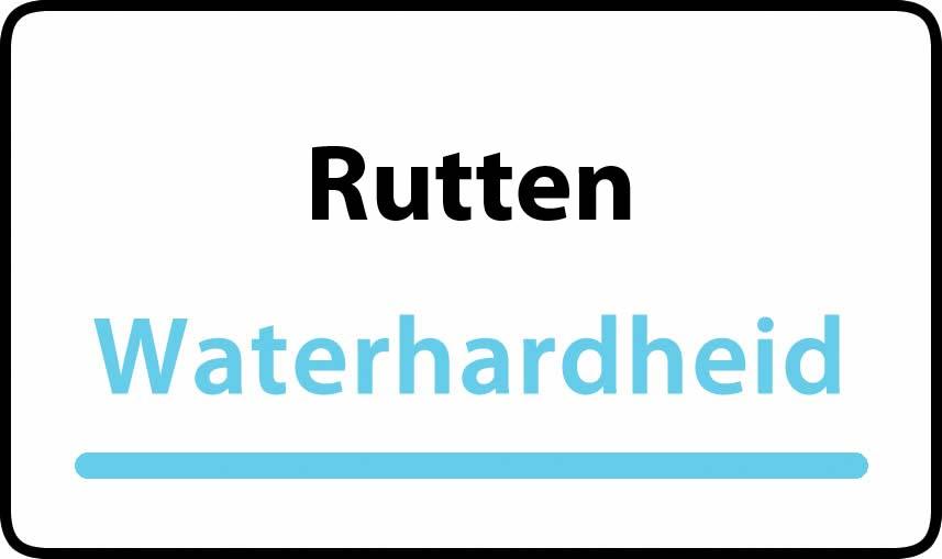 waterhardheid in Rutten is hard water 37 °F Franse graden