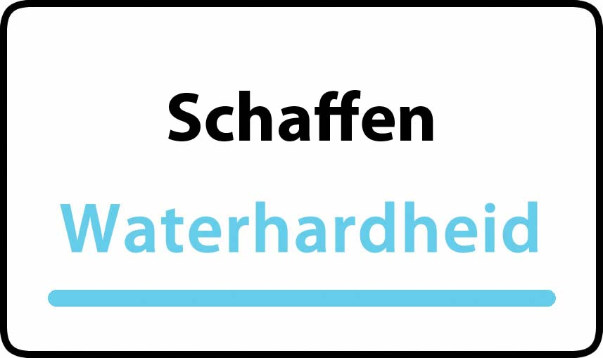 waterhardheid in Schaffen is middel hard water 15 °F Franse graden
