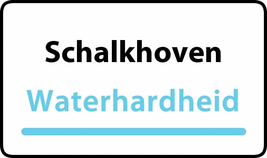 waterhardheid in Schalkhoven is hard water 35 °F Franse graden