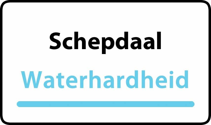 waterhardheid in Schepdaal is middel hard water 28 °F Franse graden