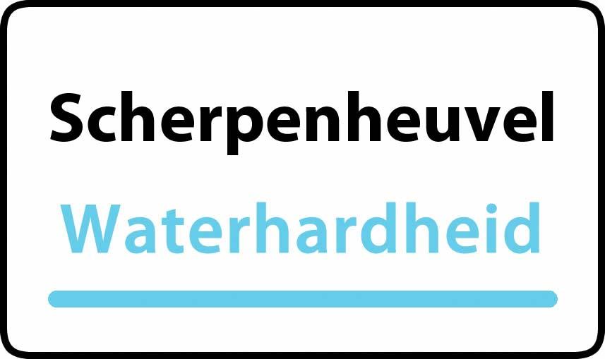 waterhardheid in Scherpenheuvel is middel hard water 17 °F Franse graden