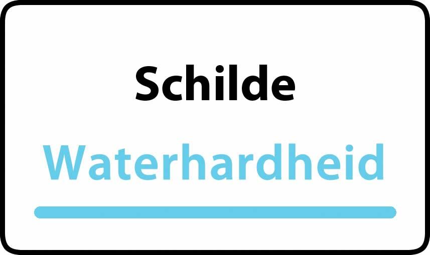 waterhardheid in Schilde is middel hard water 17 °F Franse graden