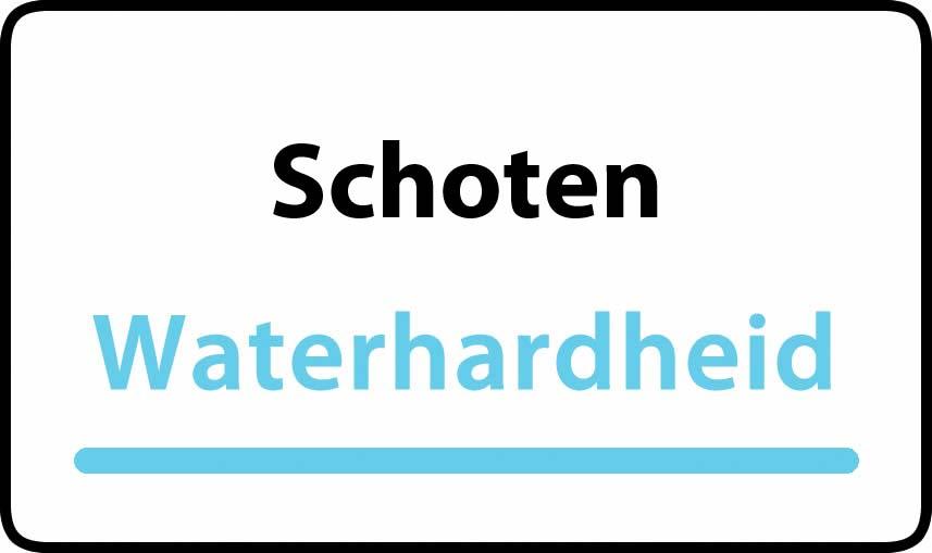 waterhardheid in Schoten is middel hard water 17 °F Franse graden