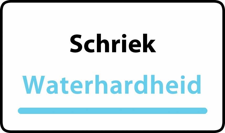 waterhardheid in Schriek is middel hard water 19 °F Franse graden