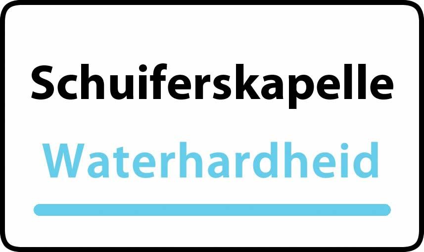waterhardheid in Schuiferskapelle is middel hard water 29 °F Franse graden