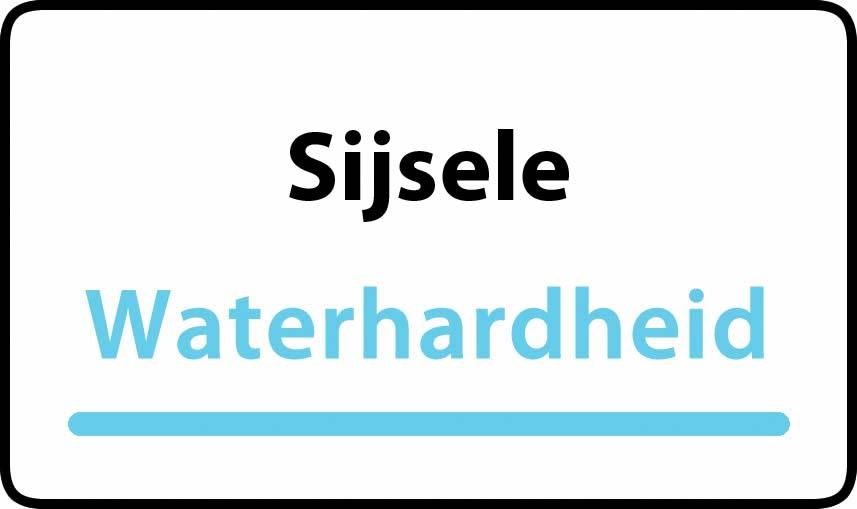 waterhardheid in Sijsele is hard water 32 °F Franse graden