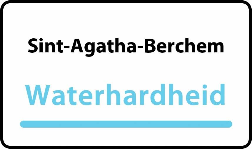 waterhardheid in Sint-Agatha-Berchem is middel hard water 22 °F Franse graden