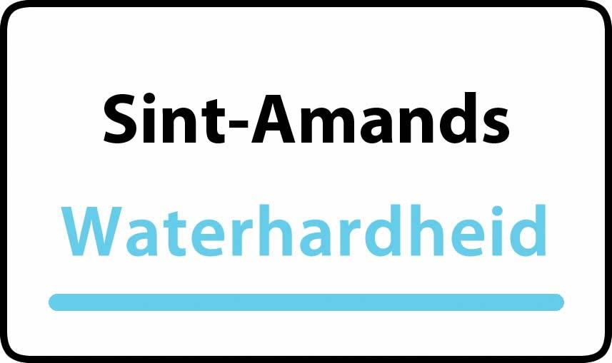 waterhardheid in Sint-Amands is middel hard water 18 °F Franse graden