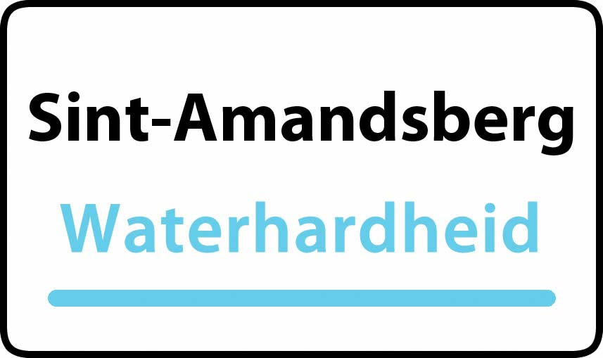 waterhardheid in Sint-Amandsberg is middel hard water 22 °F Franse graden