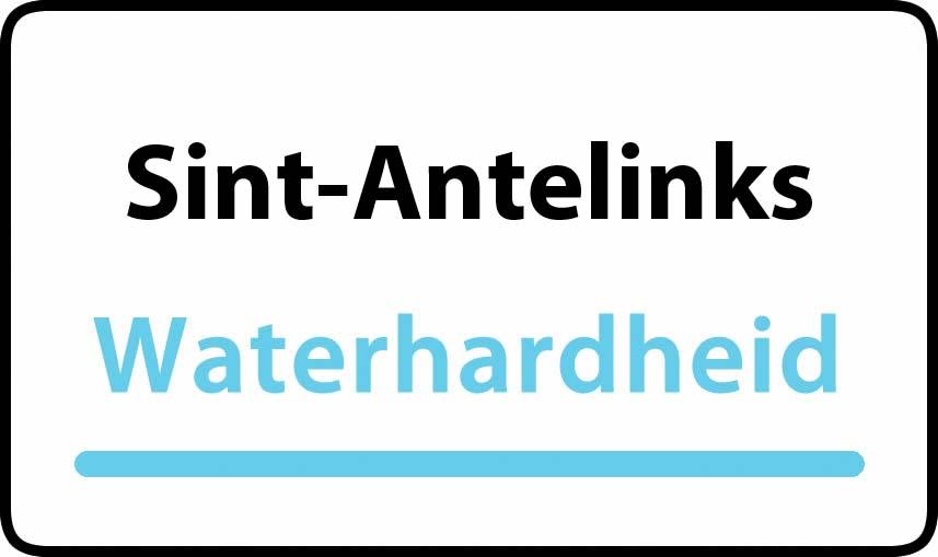 waterhardheid in Sint-Antelinks is middel hard water 23 °F Franse graden
