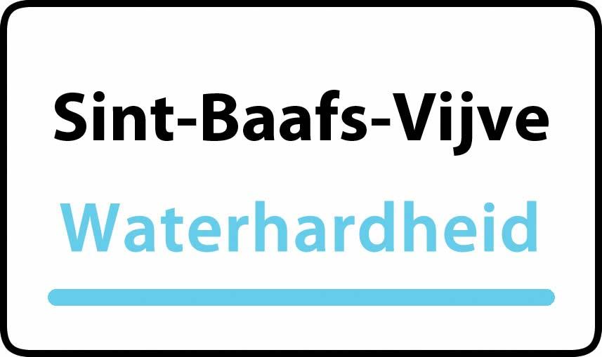 waterhardheid in Sint-Baafs-Vijve is hard water 37 °F Franse graden