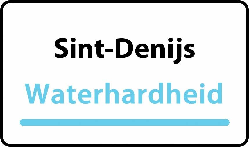 waterhardheid in Sint-Denijs is zeer hard water 47 °F Franse graden