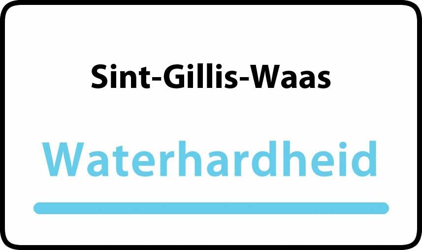 waterhardheid in Sint-Gillis-Waas is hard water 30 °F Franse graden