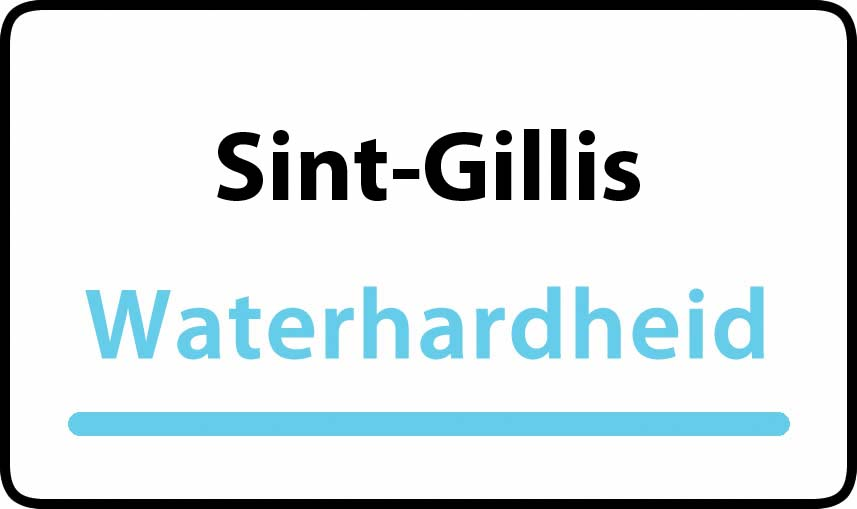 waterhardheid in Sint-Gillis is hard water 38 °F Franse graden