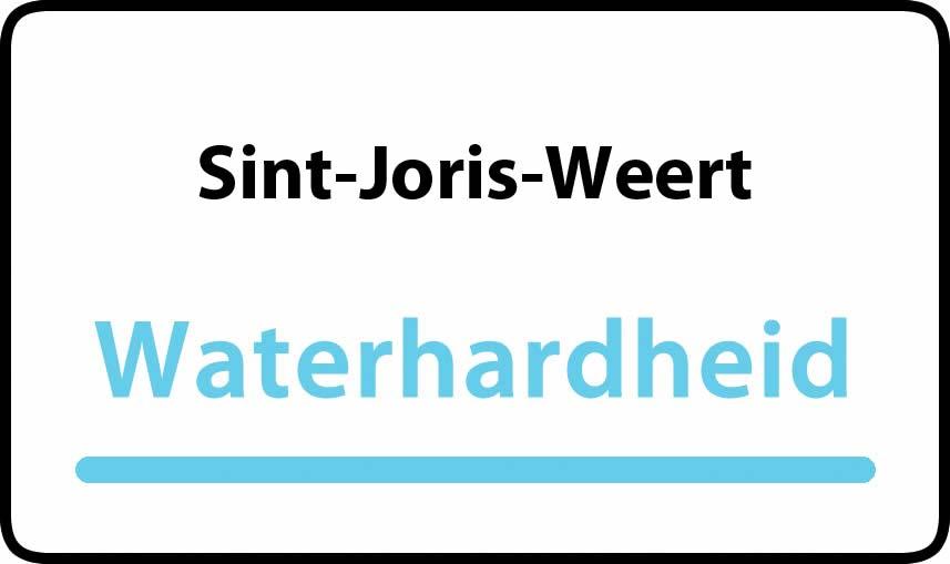 waterhardheid in Sint-Joris-Weert is middel hard water 20 °F Franse graden