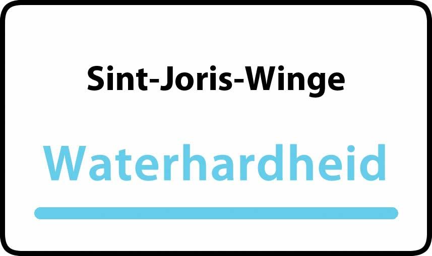 waterhardheid in Sint-Joris-Winge is middel hard water 18 °F Franse graden