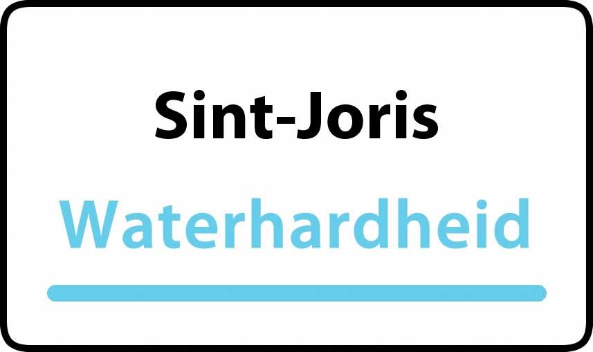 waterhardheid in Sint-Joris is middel hard water 27 °F Franse graden