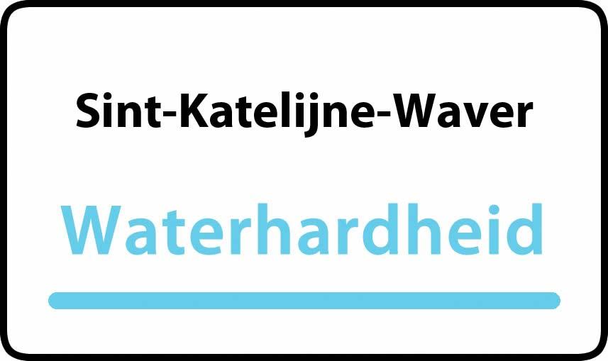 waterhardheid in Sint-Katelijne-Waver is middel hard water 19 °F Franse graden