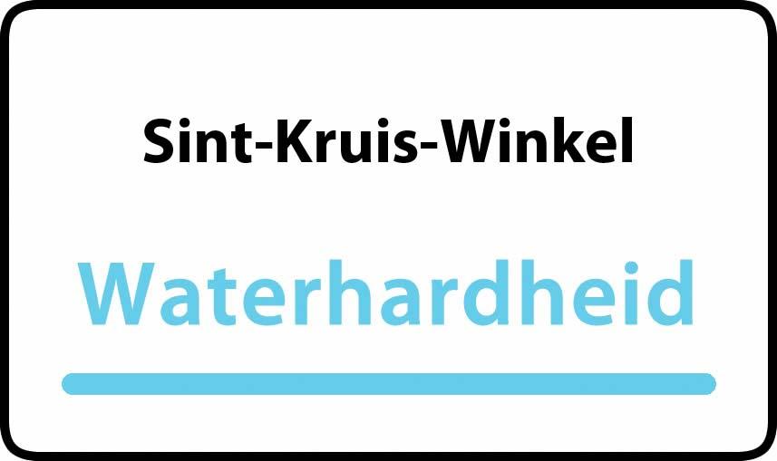 waterhardheid in Sint-Kruis-Winkel is middel hard water 23 °F Franse graden