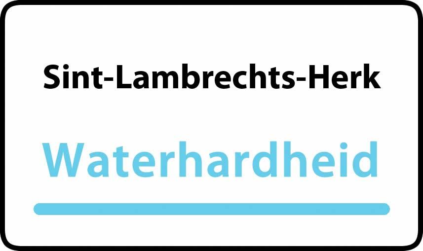 waterhardheid in Sint-Lambrechts-Herk is middel hard water 22 °F Franse graden