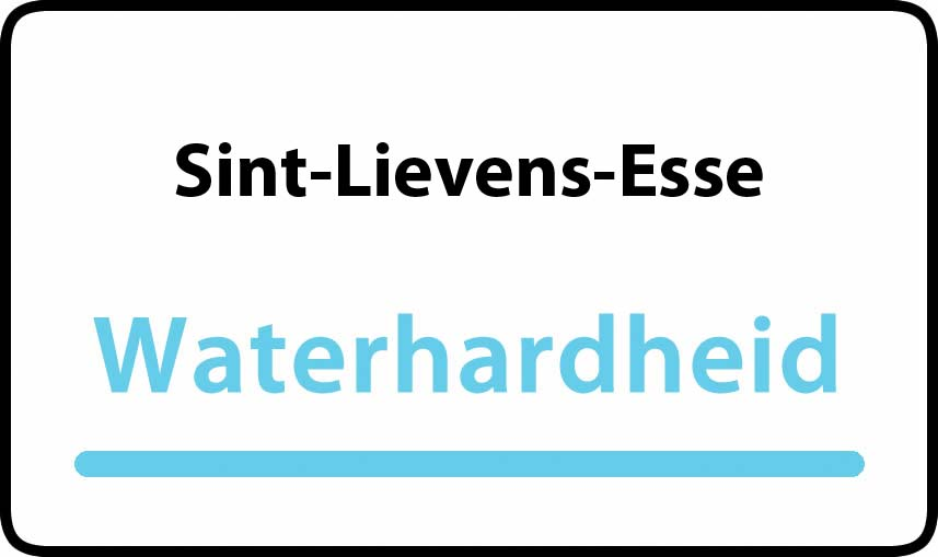 waterhardheid in Sint-Lievens-Esse is middel hard water 23 °F Franse graden
