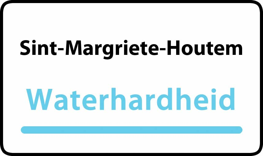 waterhardheid in Sint-Margriete-Houtem is zeer hard water 51 °F Franse graden