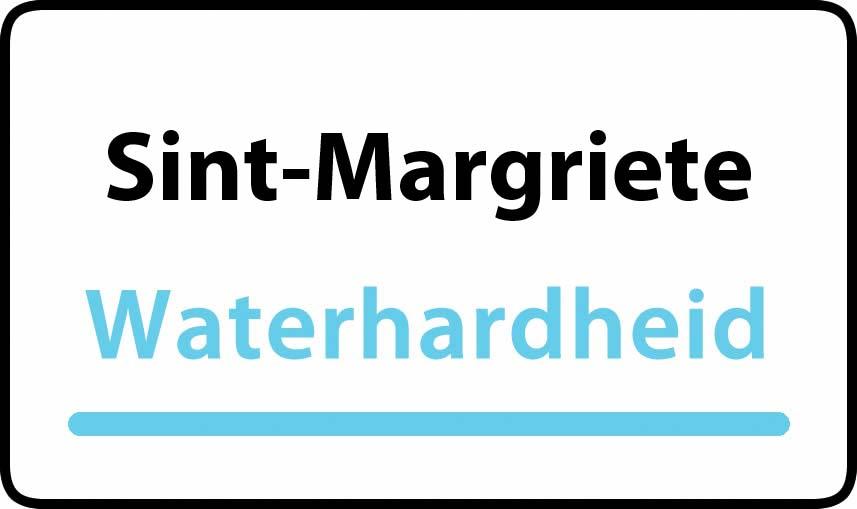 waterhardheid in Sint-Margriete is middel hard water 17 °F Franse graden