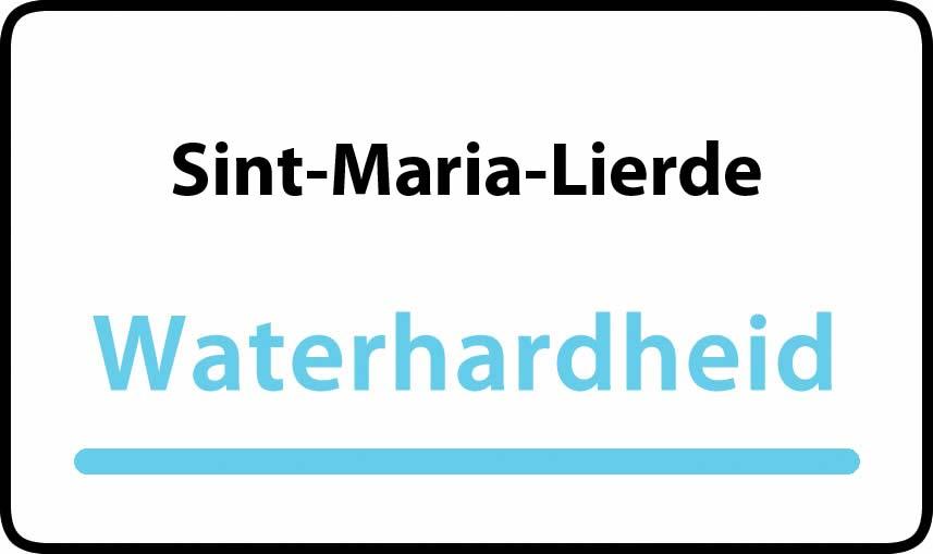 waterhardheid in Sint-Maria-Lierde is hard water 39 °F Franse graden