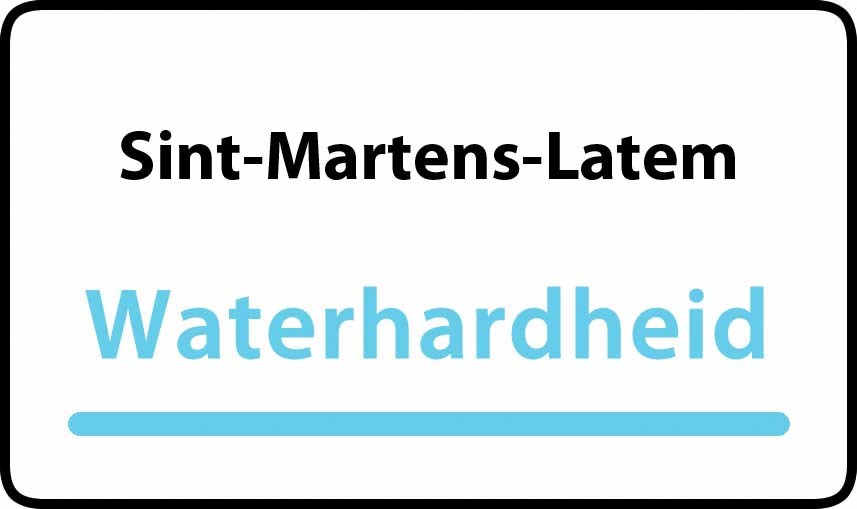 waterhardheid in Sint-Martens-Latem is hard water 39 °F Franse graden