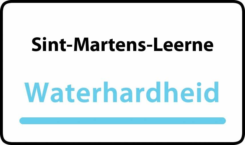 waterhardheid in Sint-Martens-Leerne is hard water 39 °F Franse graden
