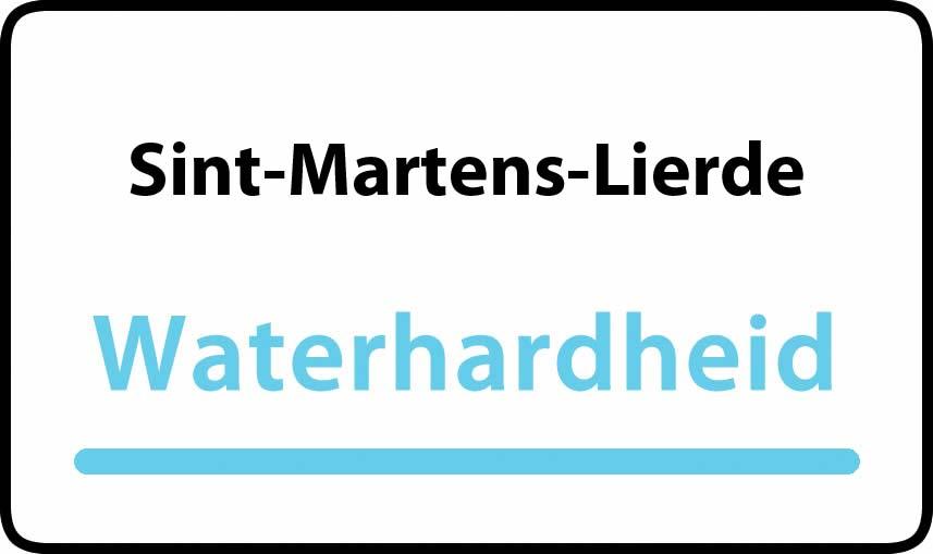 waterhardheid in Sint-Martens-Lierde is hard water 39 °F Franse graden