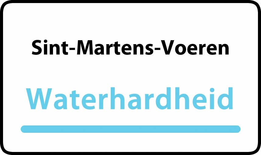 waterhardheid in Sint-Martens-Voeren is middel hard water 15 °F Franse graden