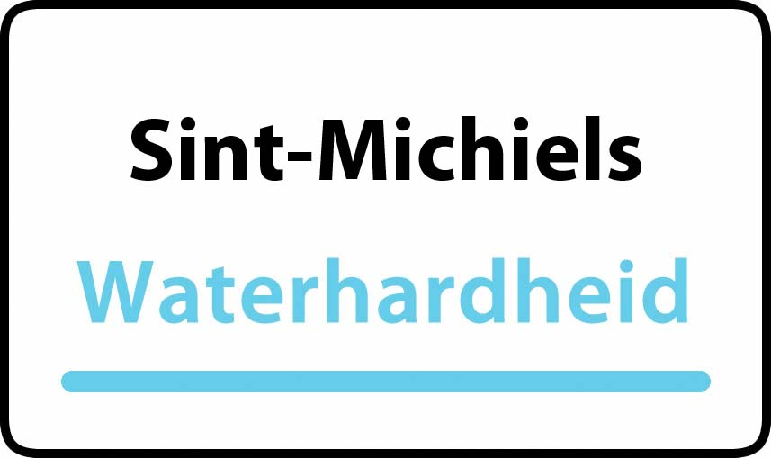 waterhardheid in Sint-Michiels is hard water 32 °F Franse graden