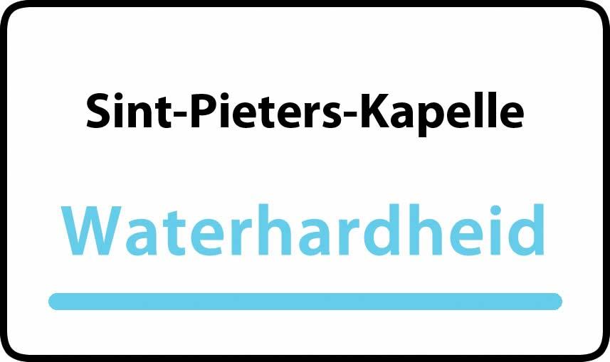 waterhardheid in Sint-Pieters-Kapelle is hard water 39 °F Franse graden