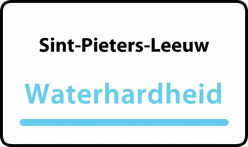 waterhardheid in Sint-Pieters-Leeuw is hard water 36 °F Franse graden