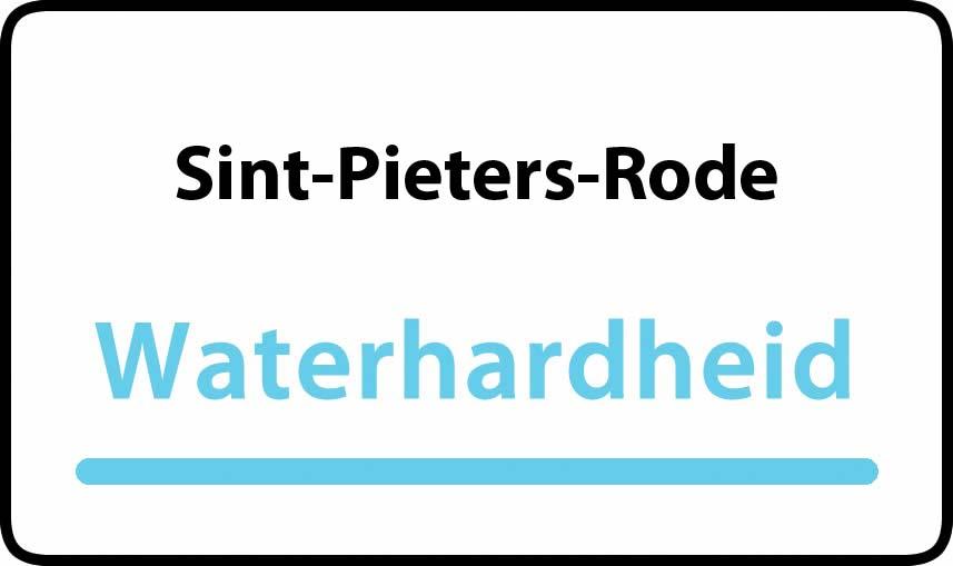waterhardheid in Sint-Pieters-Rode is middel hard water 17 °F Franse graden