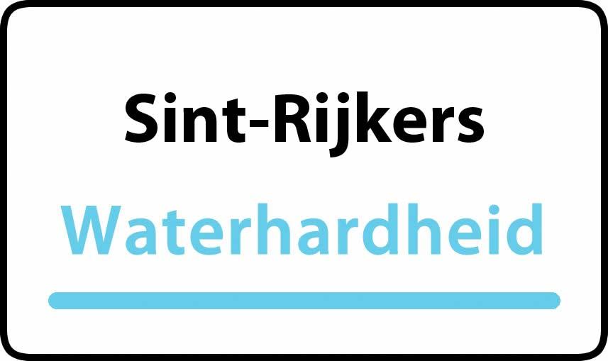 waterhardheid in Sint-Rijkers is hard water 40 °F Franse graden