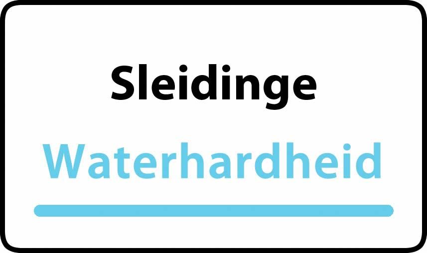 waterhardheid in Sleidinge is hard water 34 °F Franse graden
