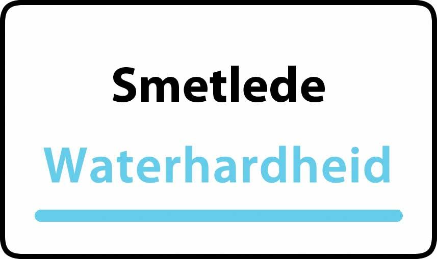 waterhardheid in Smetlede is middel hard water 23 °F Franse graden
