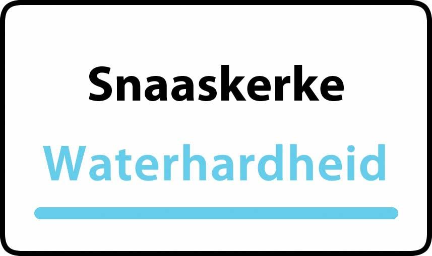 waterhardheid in Snaaskerke is hard water 32 °F Franse graden
