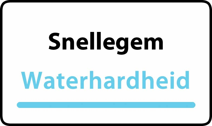 waterhardheid in Snellegem is hard water 34 °F Franse graden