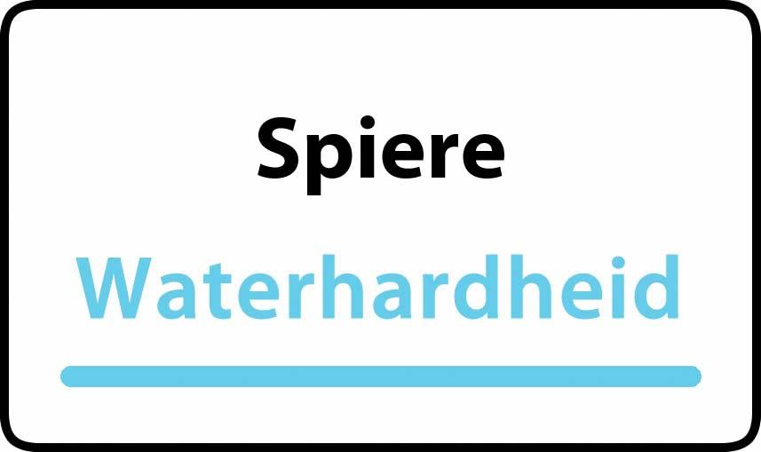 waterhardheid in Spiere is middel hard water 23 °F Franse graden