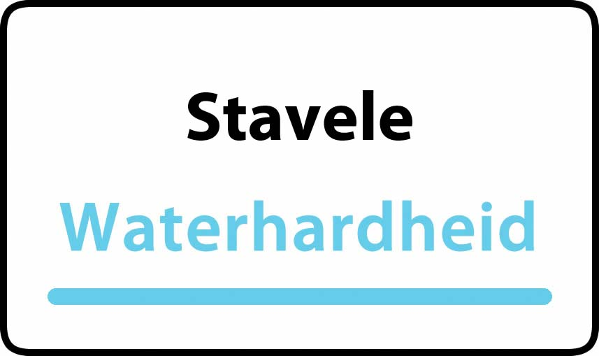 waterhardheid in Stavele is hard water 40 °F Franse graden