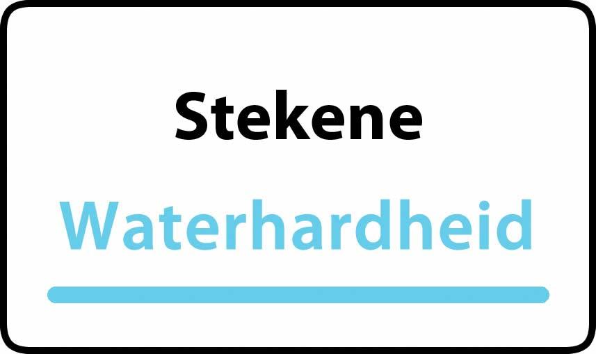 waterhardheid in Stekene is hard water 34 °F Franse graden