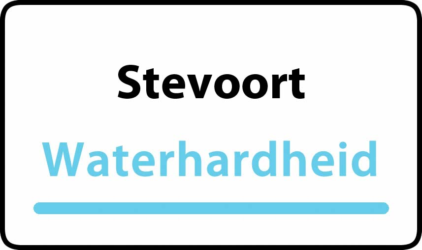 waterhardheid in Stevoort is middel hard water 22 °F Franse graden