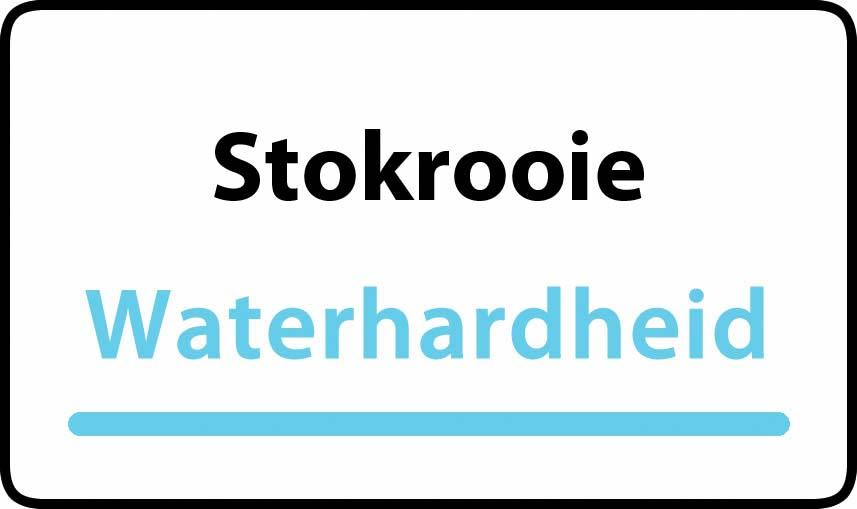 waterhardheid in Stokrooie is middel hard water 22 °F Franse graden